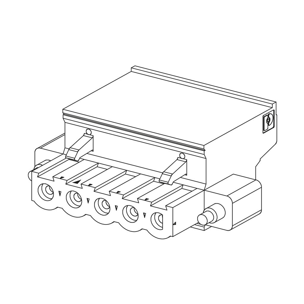 Mayer-Modicon M340 automation platform, kit of 2 removable connectors, spring type, for power supply module-1