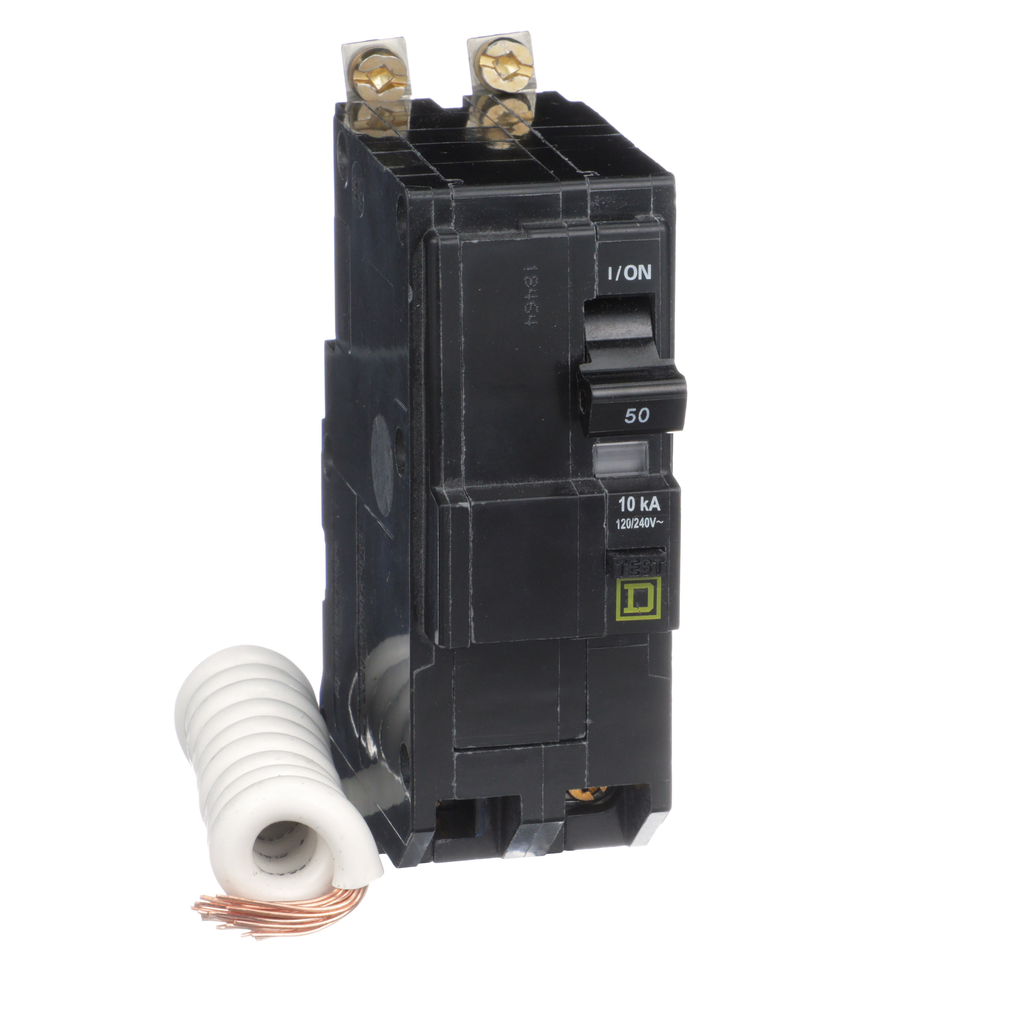 Mayer-Mini circuit breaker, QO, 50A, 2 pole, 120/240 VAC, 10 kA, 30mA grd fault B, bolt on mount-1
