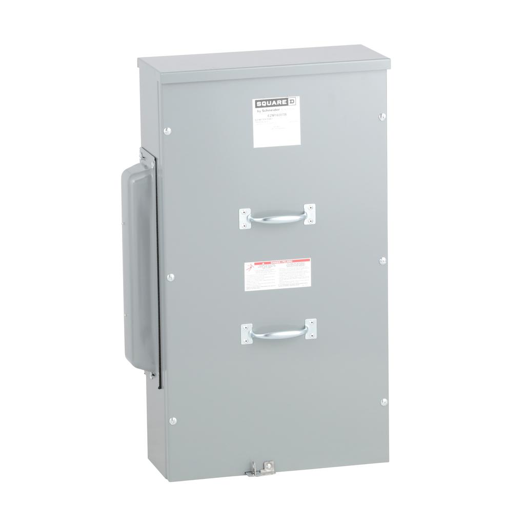 Mayer-EZ Meter Pak, center main unit, OH, UG, 600 A, 120/240 VAC single phase, 3W, main lugs, N3R, busbar, Al-1