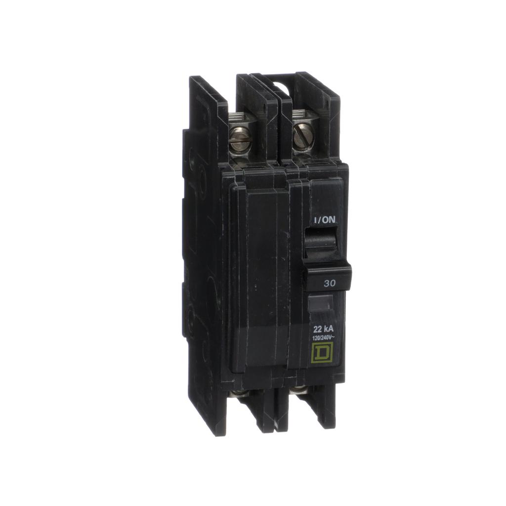 Mayer-Mini circuit breaker, QOU, 30A, 2 pole, 120/240VAC, 22kA-1