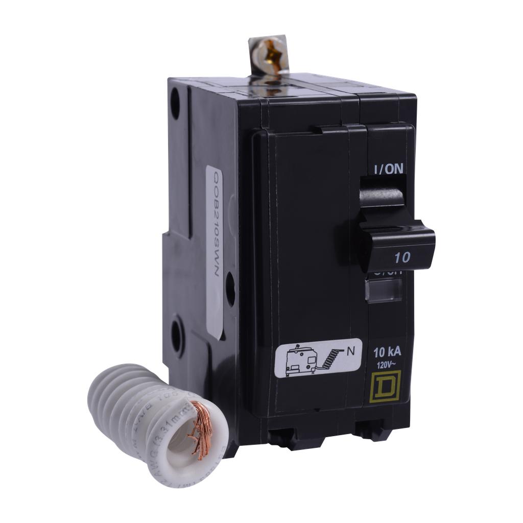 Mayer-Mini circuit breaker, QO, 30A, 2 pole, 120 VAC, 10 kA, switch neutral, bolt on mount-1