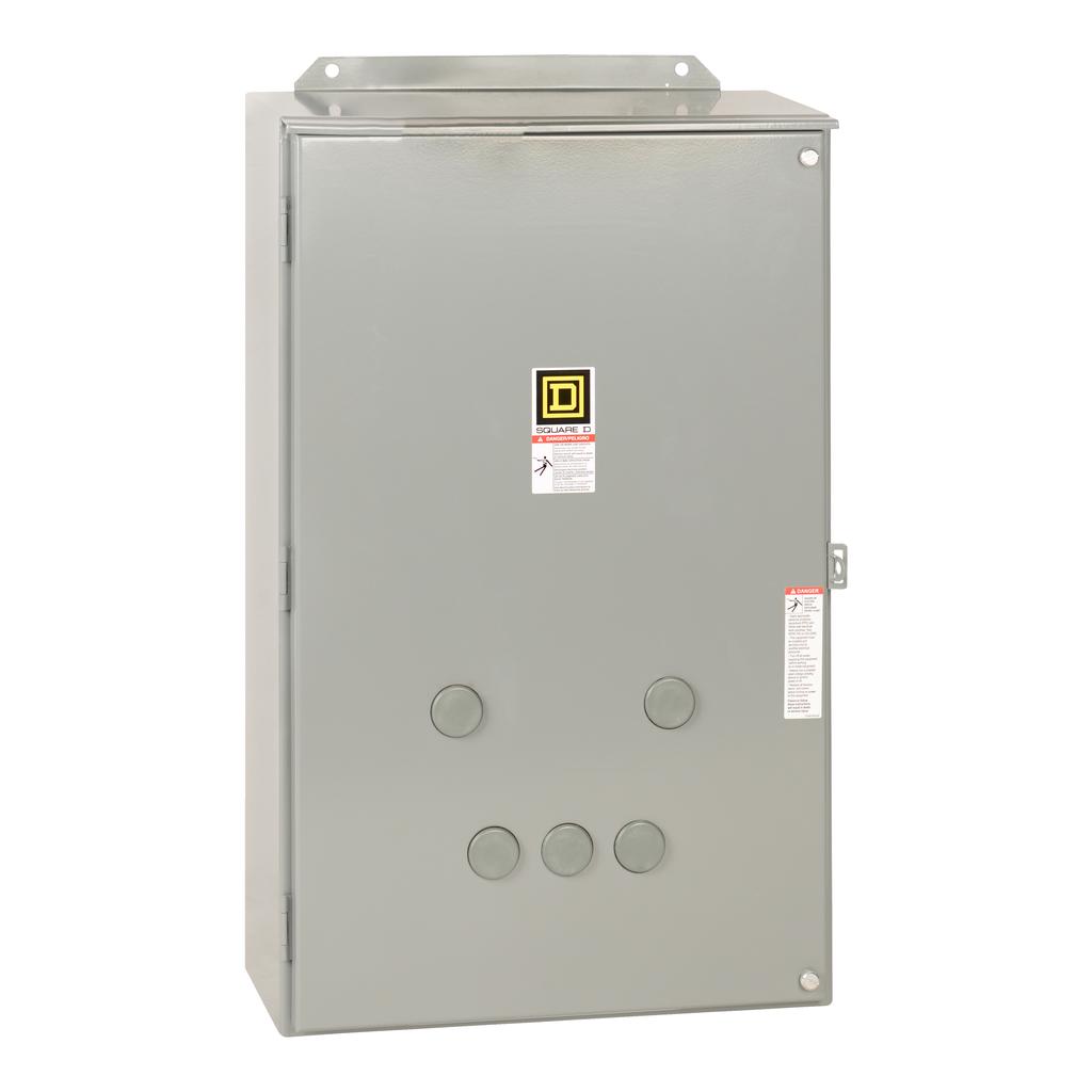 Mayer-NEMA Contactor, Type S, nonreversing, Size 4, 135A, 100 HP at 575 VAC, 3 phase, up to 100 kA, 3 pole, 120V coil, NEMA 12-1