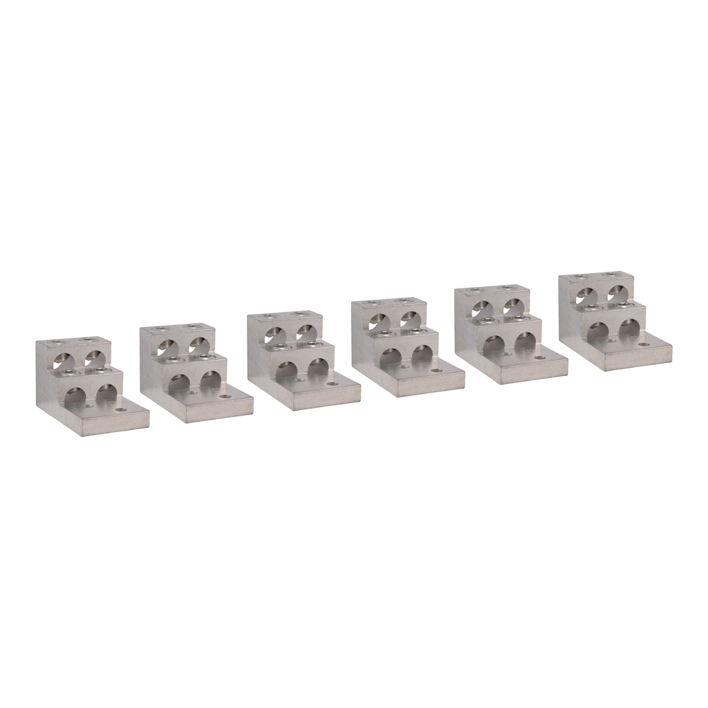 Mayer-IEC Contactor Lug Kit - 6 lugs - for LC1F780 contactor - four 1/0-750 MCM-1