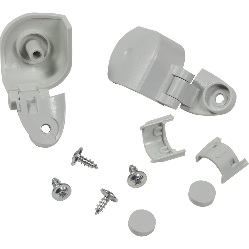 Mayer-Hinges, for cover-depth 20 mm. In thermoplastic PC with screws.-1