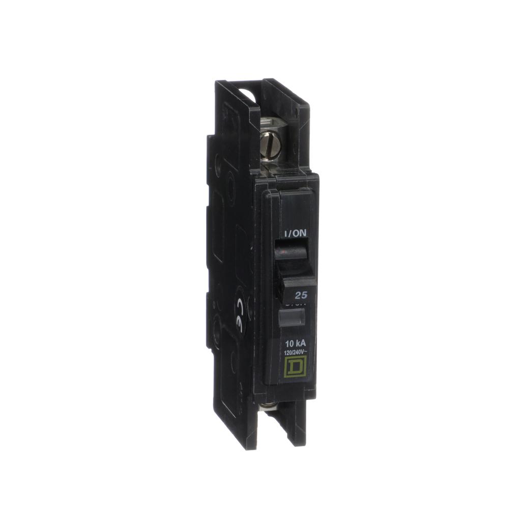 Mayer-Mini circuit breaker, QOU, 25A, 1 pole, 120/240 VAC, 10kA-1