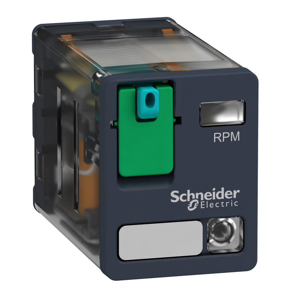 Mayer-Harmony, Power plug-in relay, 15 A, 2 CO, with LED, with lockable test button, 48 V DC-1
