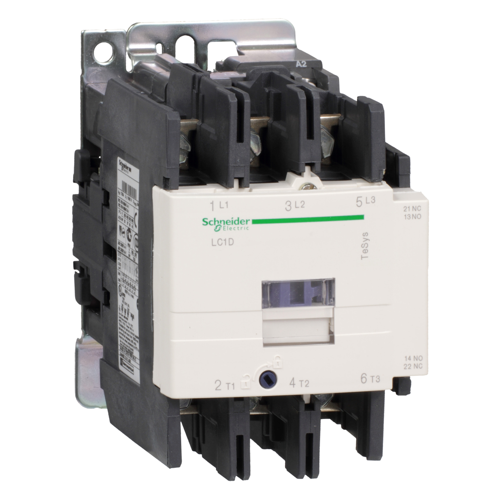 Mayer-IEC contactor, TeSys D, nonreversing, 80A, 60HP at 480VAC, 3 phase, 3 pole, 3 NO, 220VAC 50/60Hz coil, open style-1