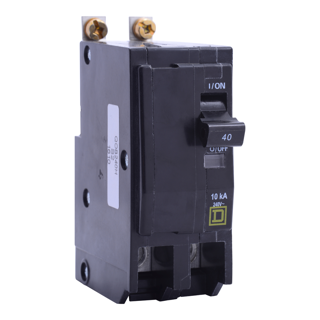 Mayer-Mini circuit breaker, QO, 50A, 2 pole, 120/240 VAC, 10 kA, bolt on mount, consumer pack-1