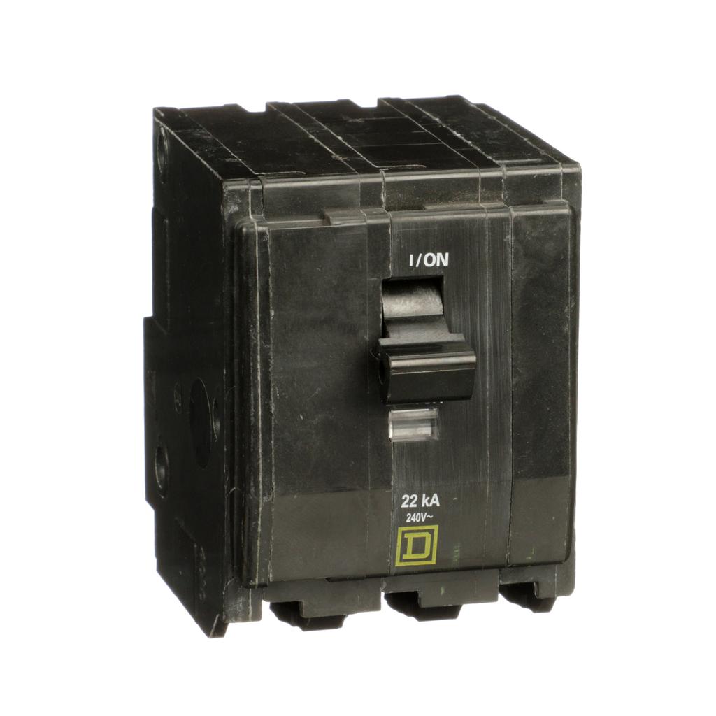 Mayer-Mini circuit breaker, QO, 70A, 3 pole, 120/240VAC, 22kA, plug in mount-1