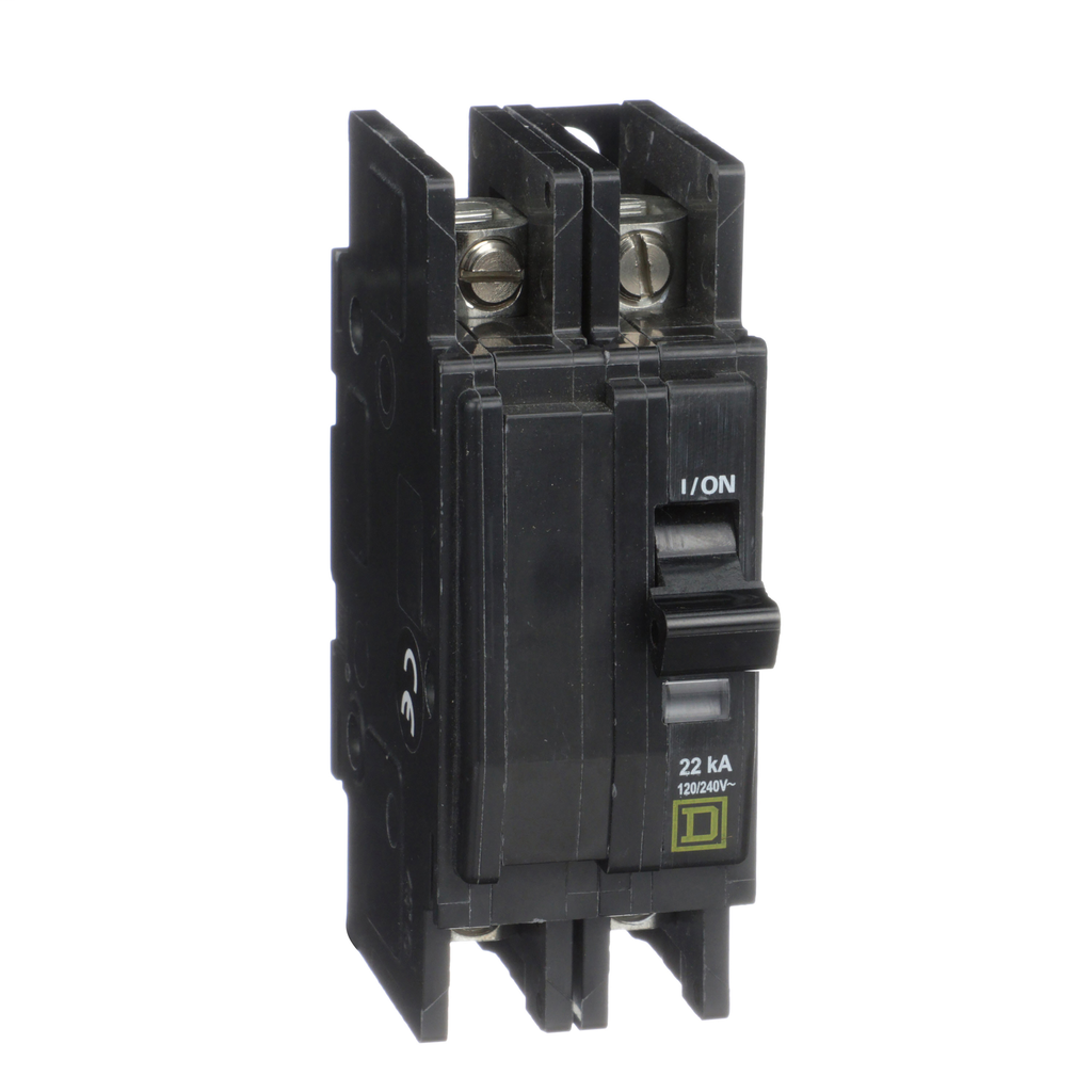 Mayer-Mini circuit breaker, QOU, 15A, 2 pole, 120/240 VAC, 22kA-1