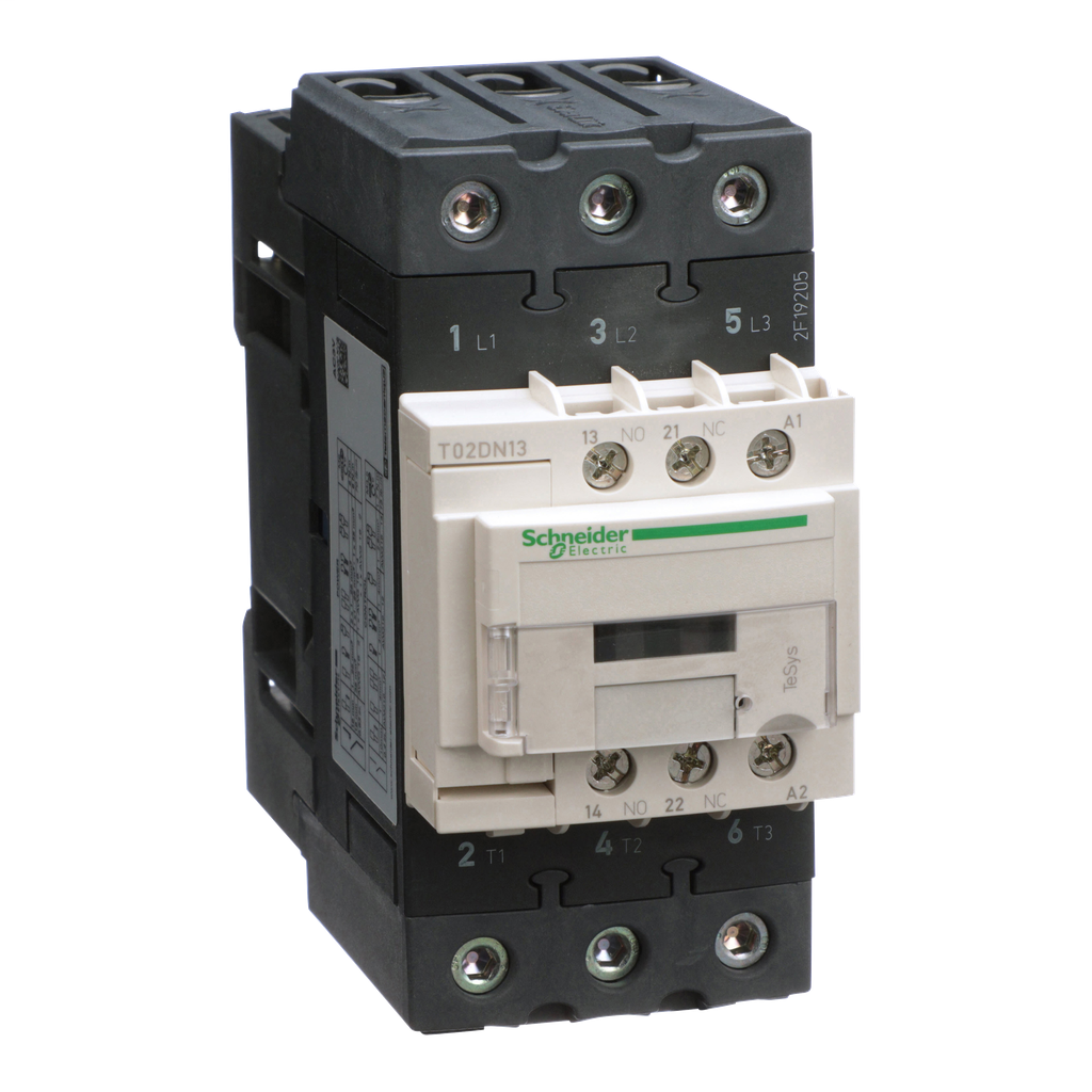 Mayer-NEMA Contactor, TeSys N, nonreversing, Size 2, 45A, 25HP at 460VAC, 3 pole, 3 phase, 120VAC 50/60Hz coil, open-1