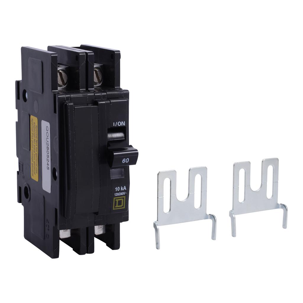 Mayer-Mini circuit breaker, QOU, 60A, 2 pole, 120/240 VAC, 10kA, bulk pack-1