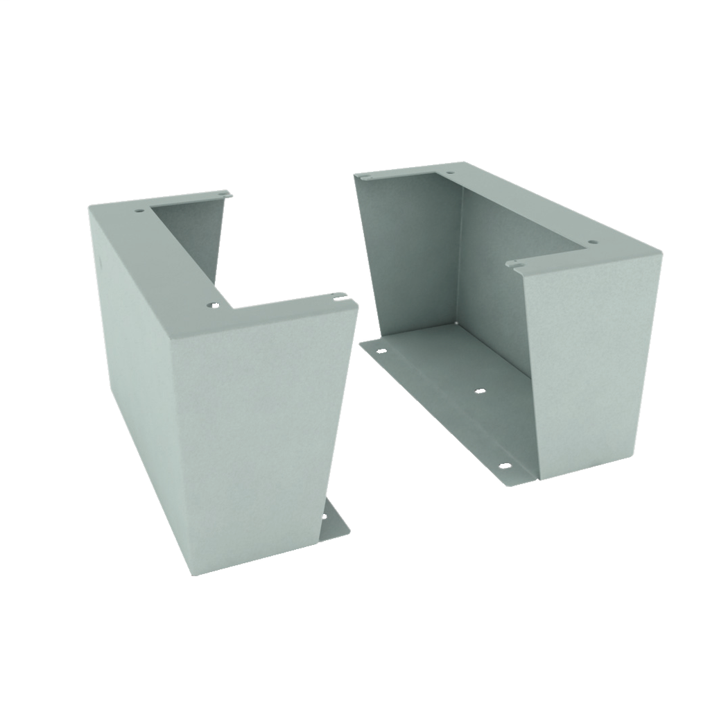 Mayer-Floor stand kit for Spacial S3D Depth 400 x Height 300 mm Colour RAL7035-1