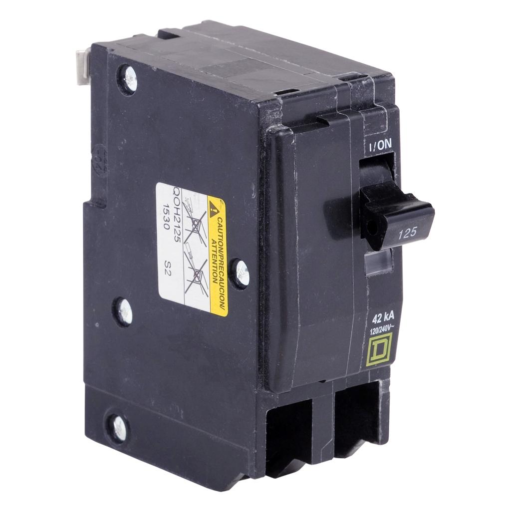 Mayer-Mini circuit breaker, QO, 80A, 2 pole, 120/240 VAC, 10 kA, plug in mount-1