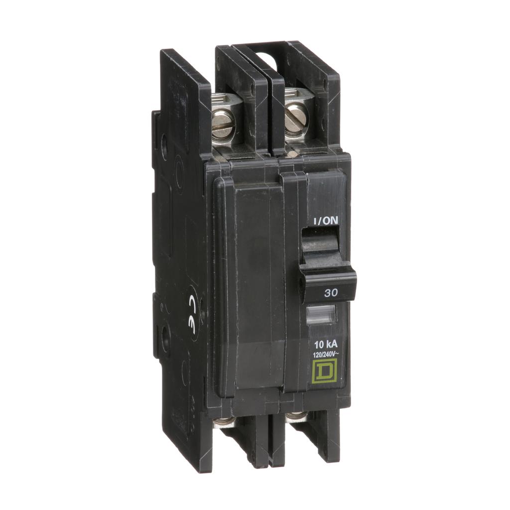 Mayer-Mini circuit breaker, QOU, 30A, 2 pole, 120/240VAC, 10kA, bulk pack-1