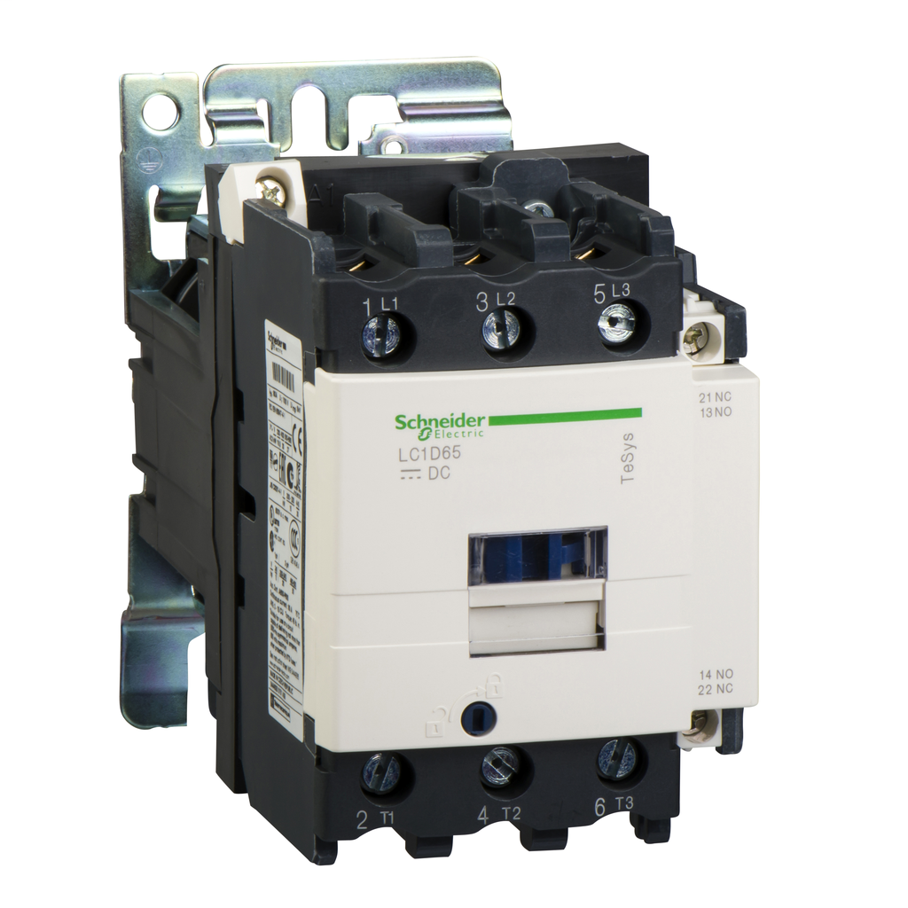 Mayer-IEC contactor, TeSys D, nonreversing, 80A, 60HP at 480VAC, up to 100kA SCCR, 3 phase, 3 NO, 48VDC coil, open style-1