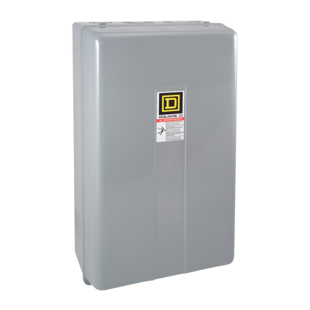 Mayer-NEMA Contactor, Type S, nonreversing, Size 3, 90A, 50 HP at 575 VAC, 3 phase, up to 100 kA, 3 pole, 120 VAC coil, NEMA 1-1