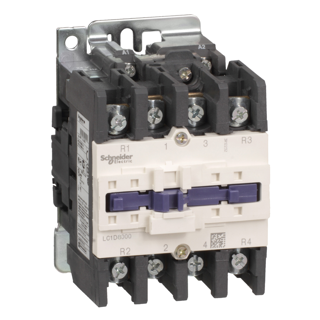 Mayer-IEC contactor, TeSys D, nonreversing, 125A resistive, 4 pole, 4 NO, 48VAC 50/60Hz coil, open style-1