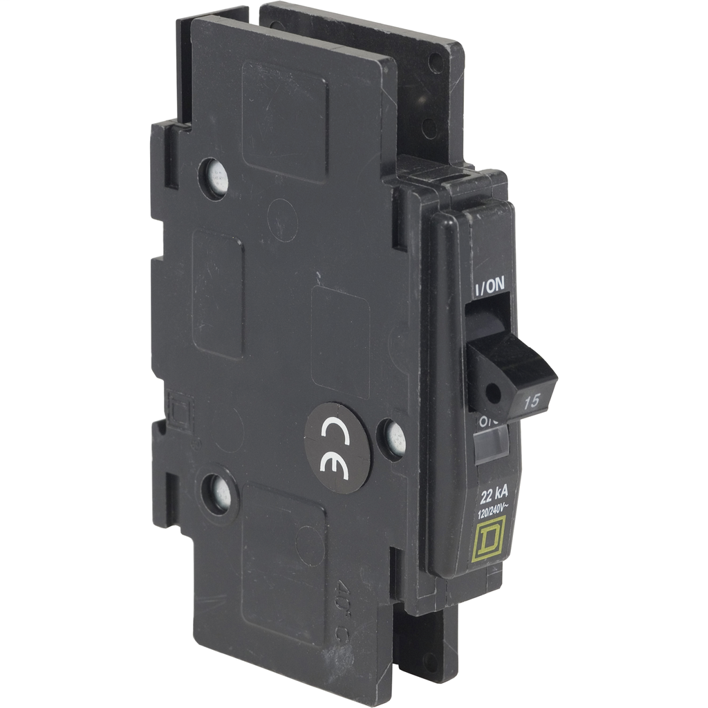 Mayer-Mini circuit breaker, QOU, 15A, 1 pole, 120/240 VAC, 10kA, high magnetic-1