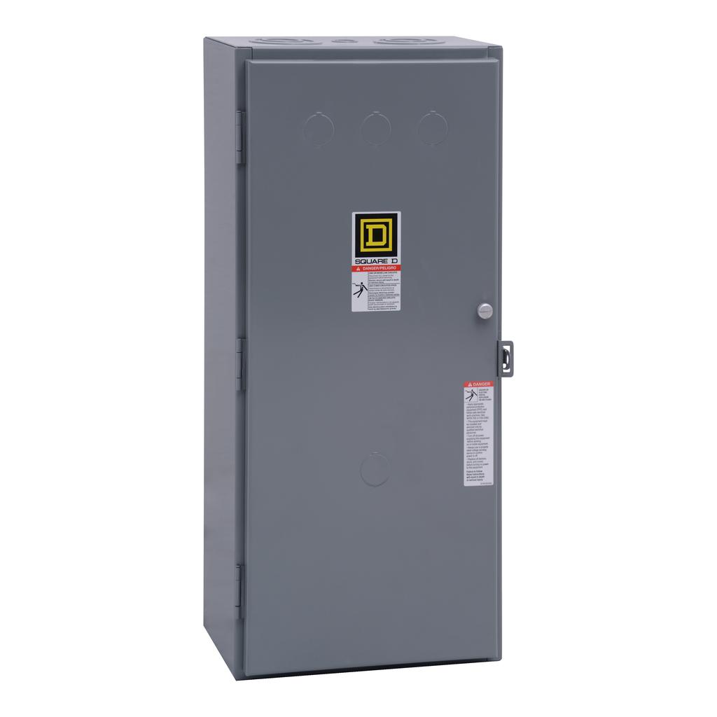 Mayer-NEMA Contactor, Type S, nonreversing, Size 4, 135A, 1 phase, up to 100 kA, 2 pole, 120 VAC coil, NEMA 1-1