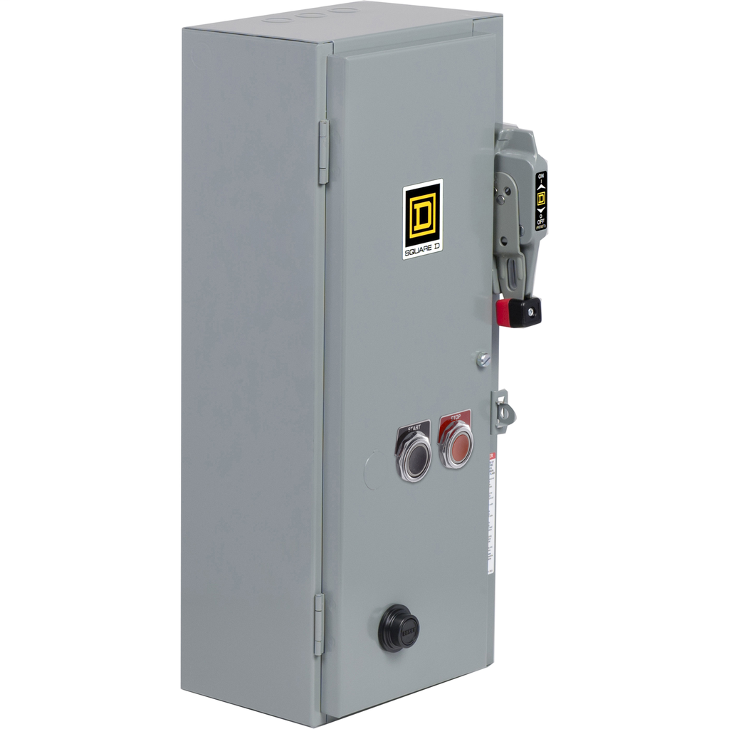 Mayer-NEMA Combination Starter, Type S, 30A fusible disconnect, Size 0, 18A, 5 HP at 600 VAC polyphase, 120 VAC coil, NEMA 1-1