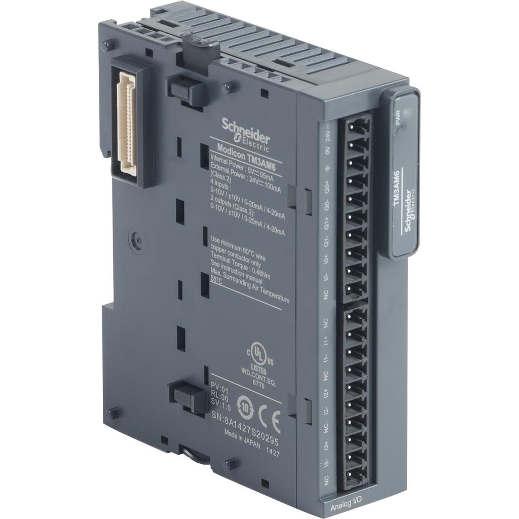 Mayer-Input/output analog module, Modicon TM3, 4 inputs, 2 output (screw) 24 VDC-1
