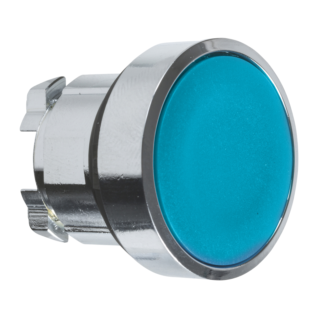 Mayer-Harmony XB4, Push button head, metal, flush, blue, Ø22, spring return, unmarked-1