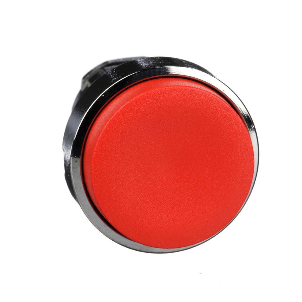 Mayer-Harmony, 22mm Push Button, no guard push button head, spring return, red, unmarked-1