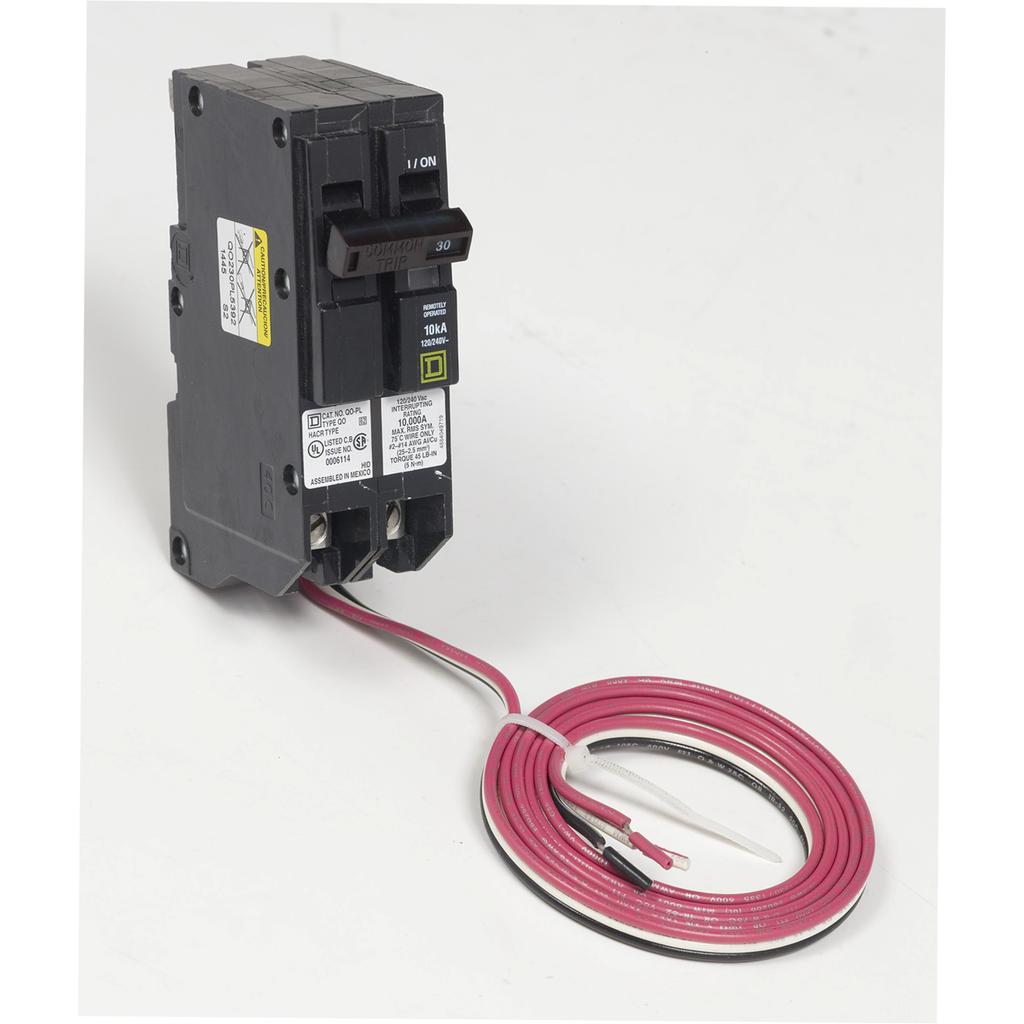 Mayer-Mini circuit breaker, QO, 30A, 2 pole, 120/240 VAC, 10 kA, Powerlink, plug in mount, 48 in leads-1