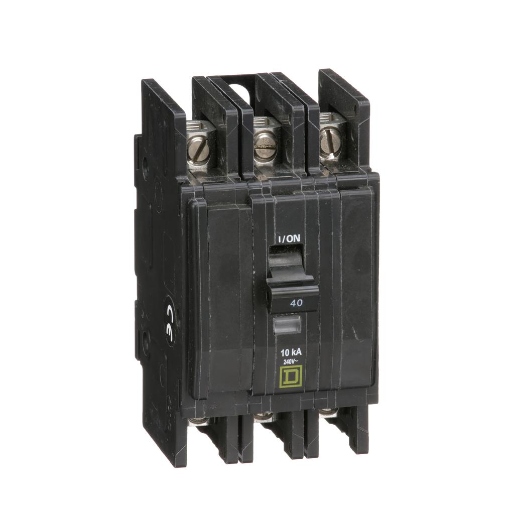 Mayer-Mini circuit breaker, QOU, 40A, 3 pole, 240 VAC, 10kA, bulk pack-1