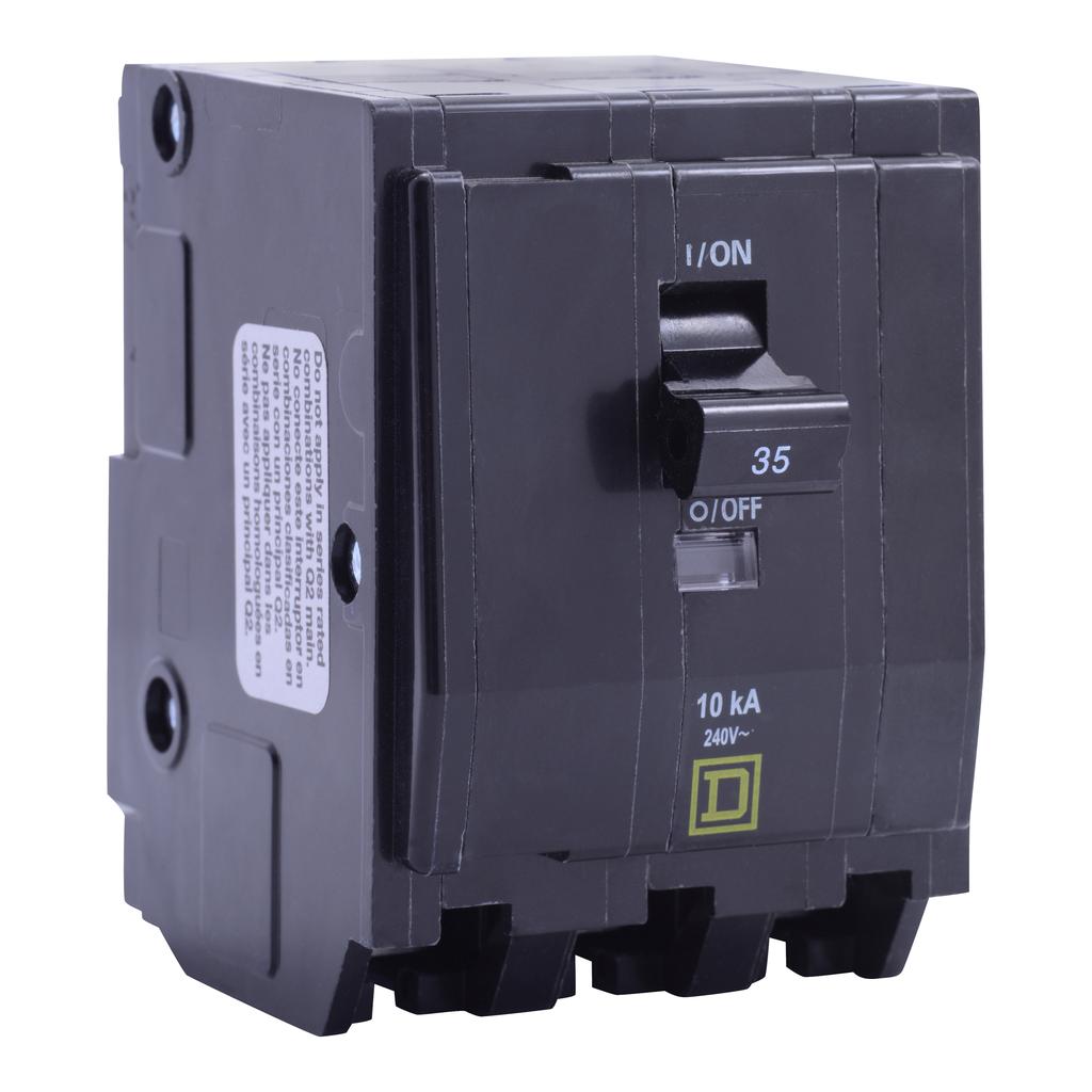 Mayer-Mini circuit breaker, QO, 45A, 3 pole, 120/240 VAC, 10 kA, plug in mount, consumer pack-1