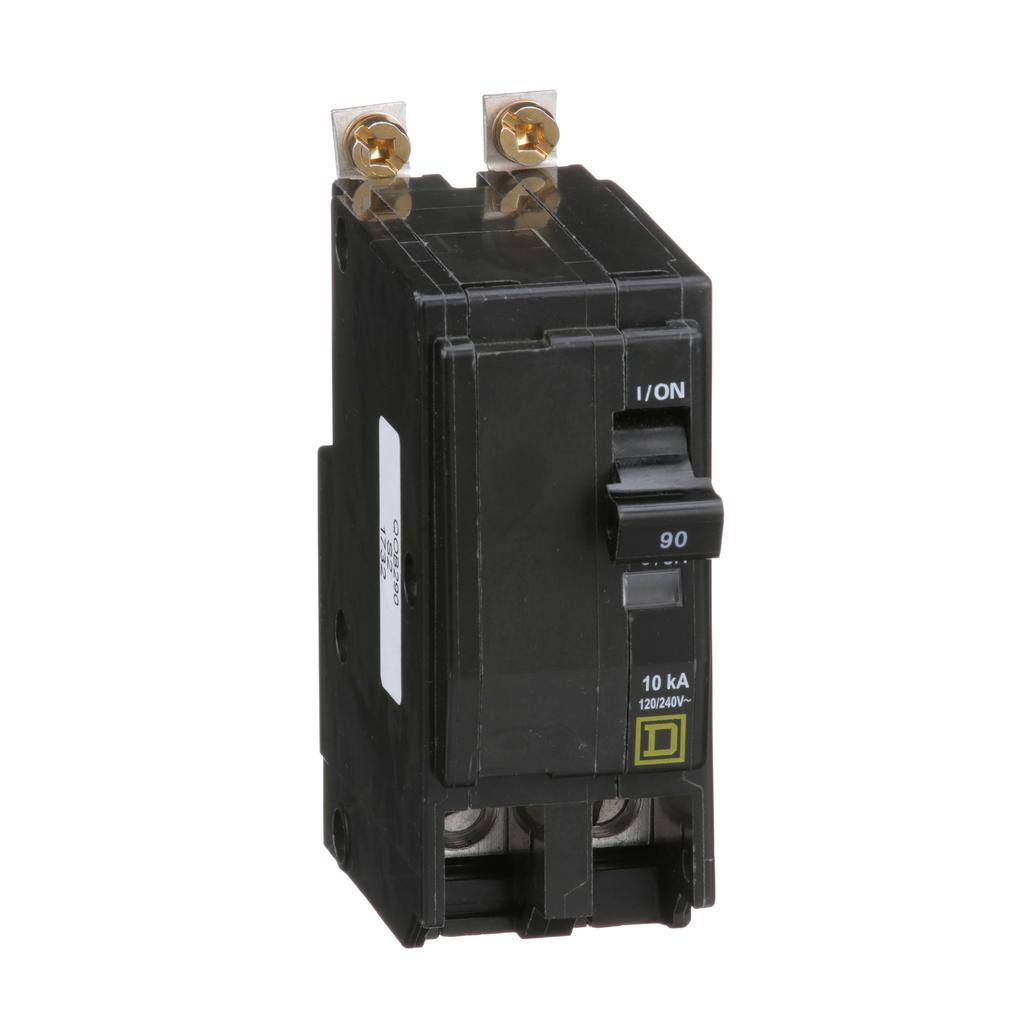Mayer-Mini circuit breaker, QO, 90A, 2 pole, 120/240 VAC, 10 kA, bolt on mount-1