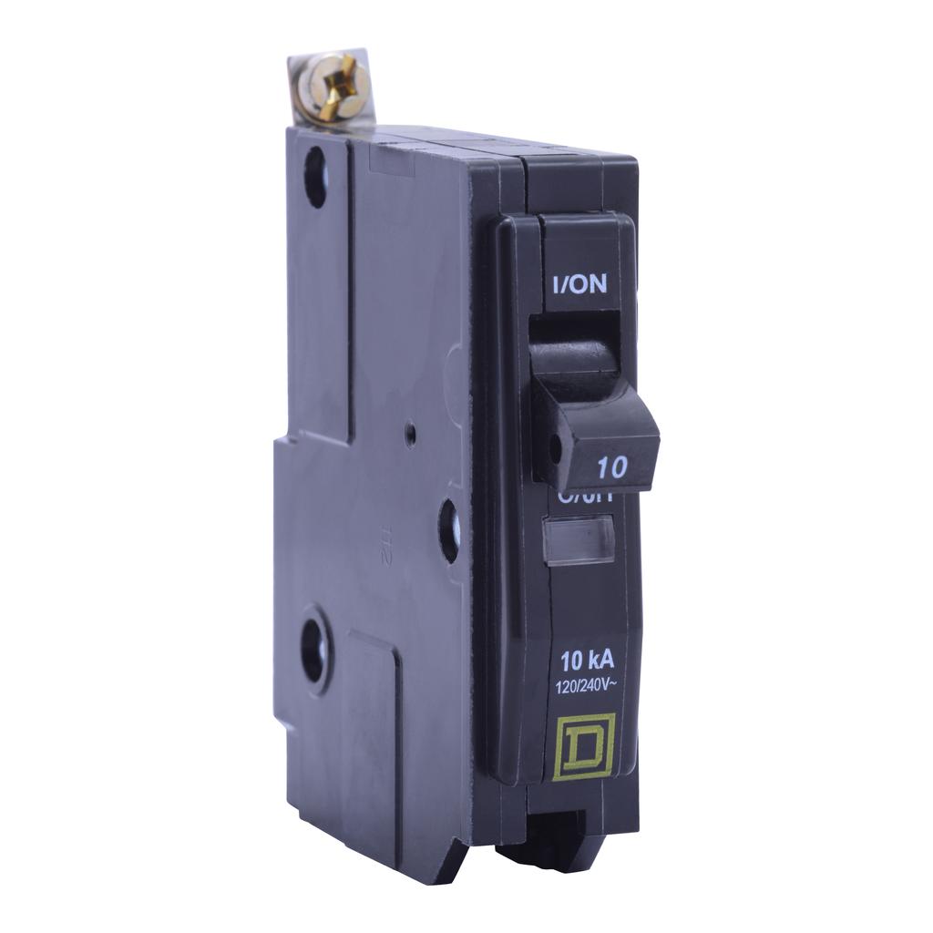 Mayer-Mini circuit breaker, QO, 30A, 1 pole, 120/240 VAC, 10 kA, high density discharge, bolt on mount-1