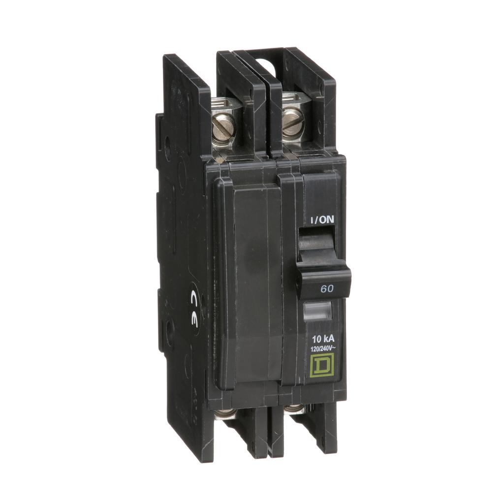 Mayer-Mini circuit breaker, QOU, 60A, 2 pole, 120/240VAC, 10kA, bulk pack-1