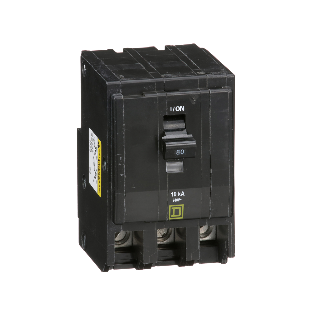 Mayer-Mini circuit breaker, QO, 80A, 3 pole, 120/240 VAC, 10 kA, plug in mount-1