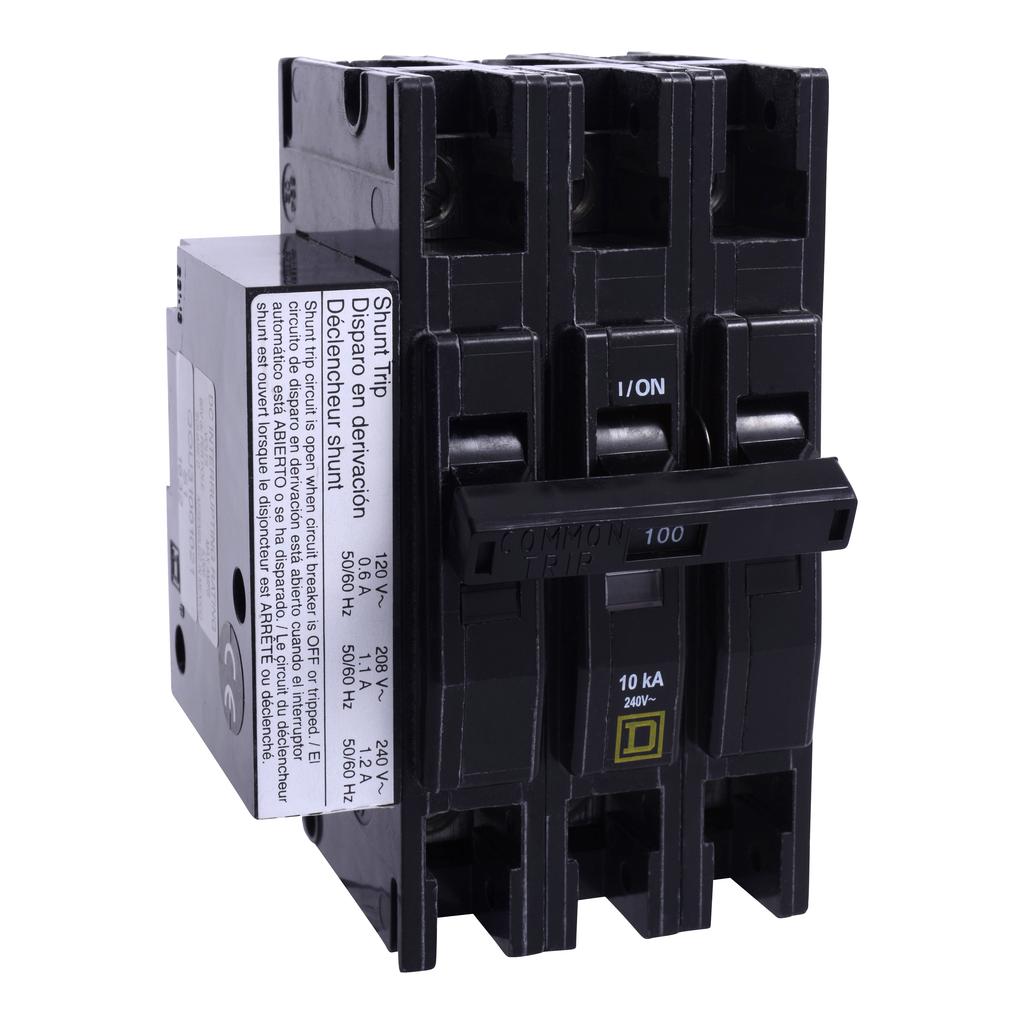 Mayer-Mini circuit breaker, QOU, 70A, 3 pole, 240 VAC, 10kA, shunt trip-1