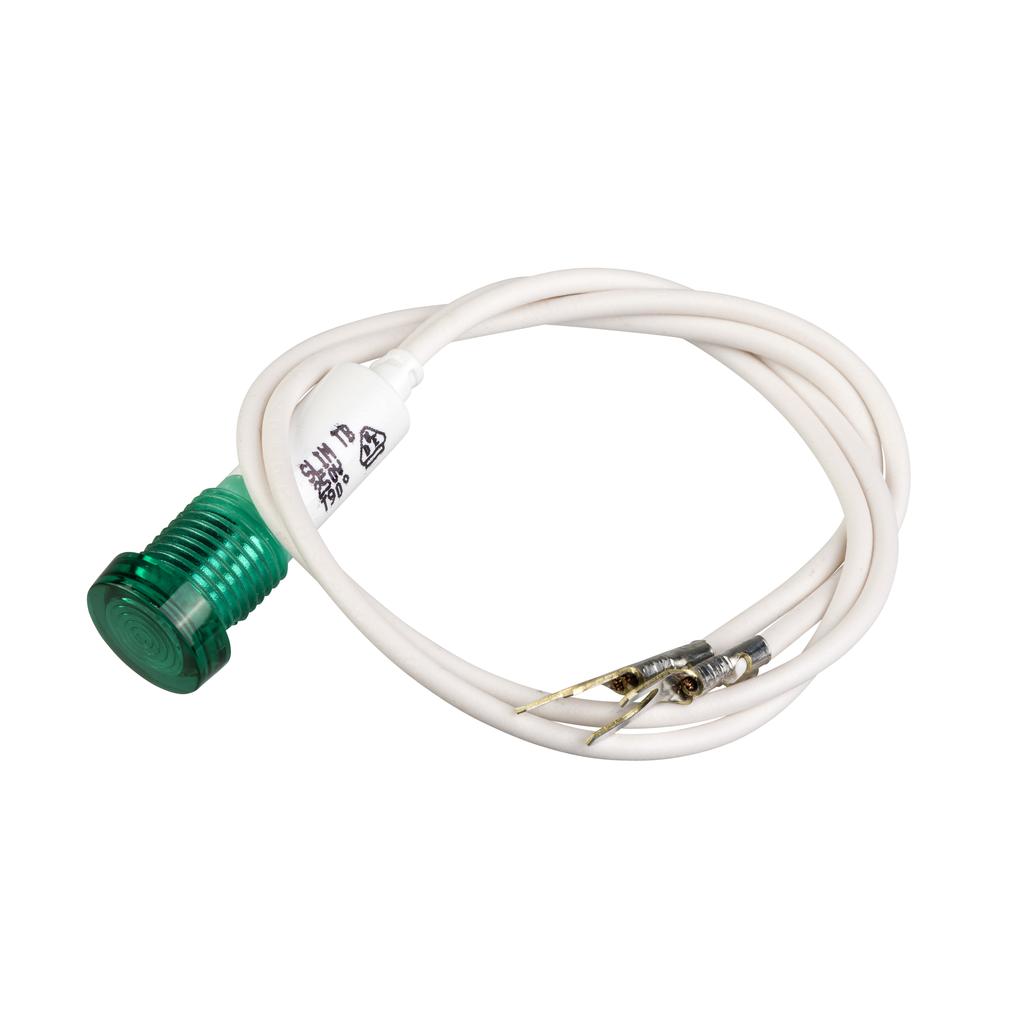 Mayer-green pilot light - TeSys GV2-SN - neon - 220...240 V-1