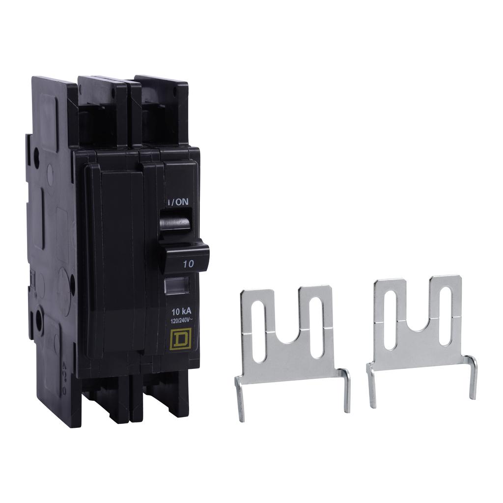 Mayer-Mini circuit breaker, QOU, 20A, 2 pole, 120/240 VAC, 10kA, field reversible lugs, ring terminal, China certified-1