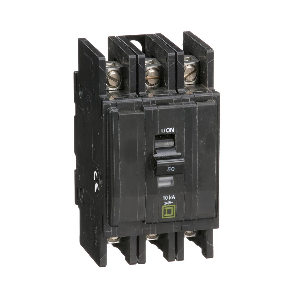 Mayer-Mini circuit breaker, QOU, 50A, 3 pole, 240 VAC, 10kA, bulk pack-1
