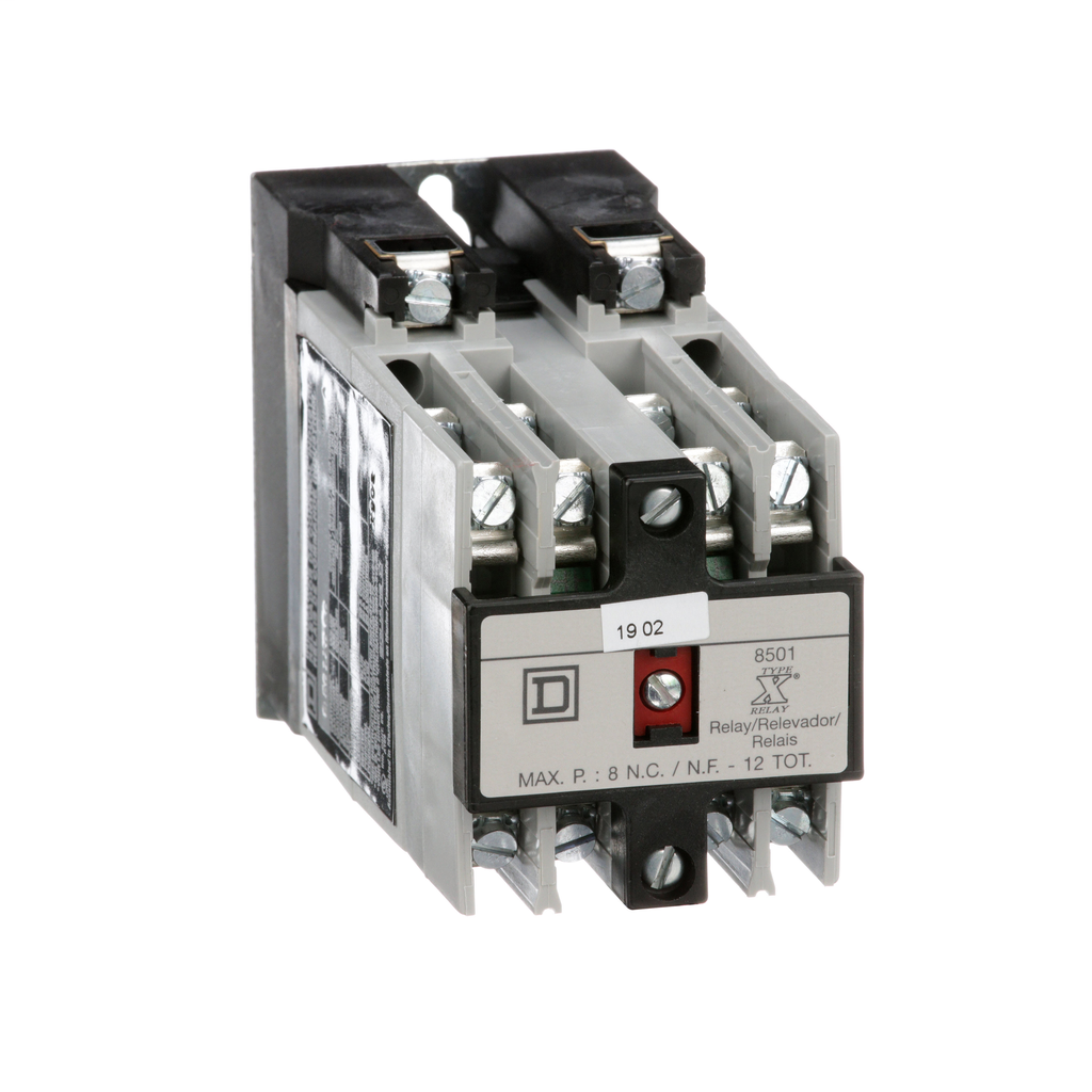 Mayer-NEMA Control Relay, Type X, machine tool, 10A resistive at 600 VAC, 3 NO and 3 NC contacts, 110/120 VAC 50/60 Hz coil-1