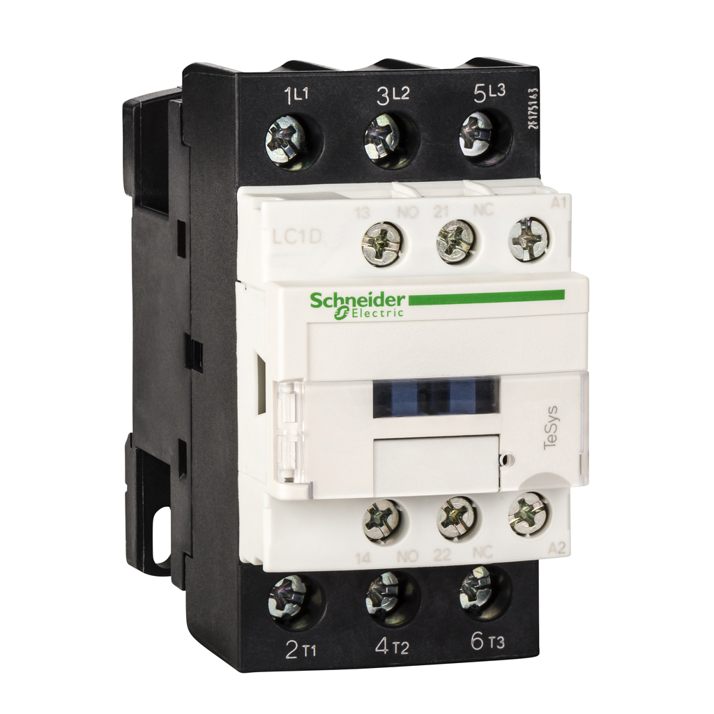Mayer-IEC contactor, TeSys D, nonreversing, 25A, 15HP at 480VAC, up to 100kA SCCR, 3 phase, 3 NO, 440VAC 50/60Hz coil, open-1