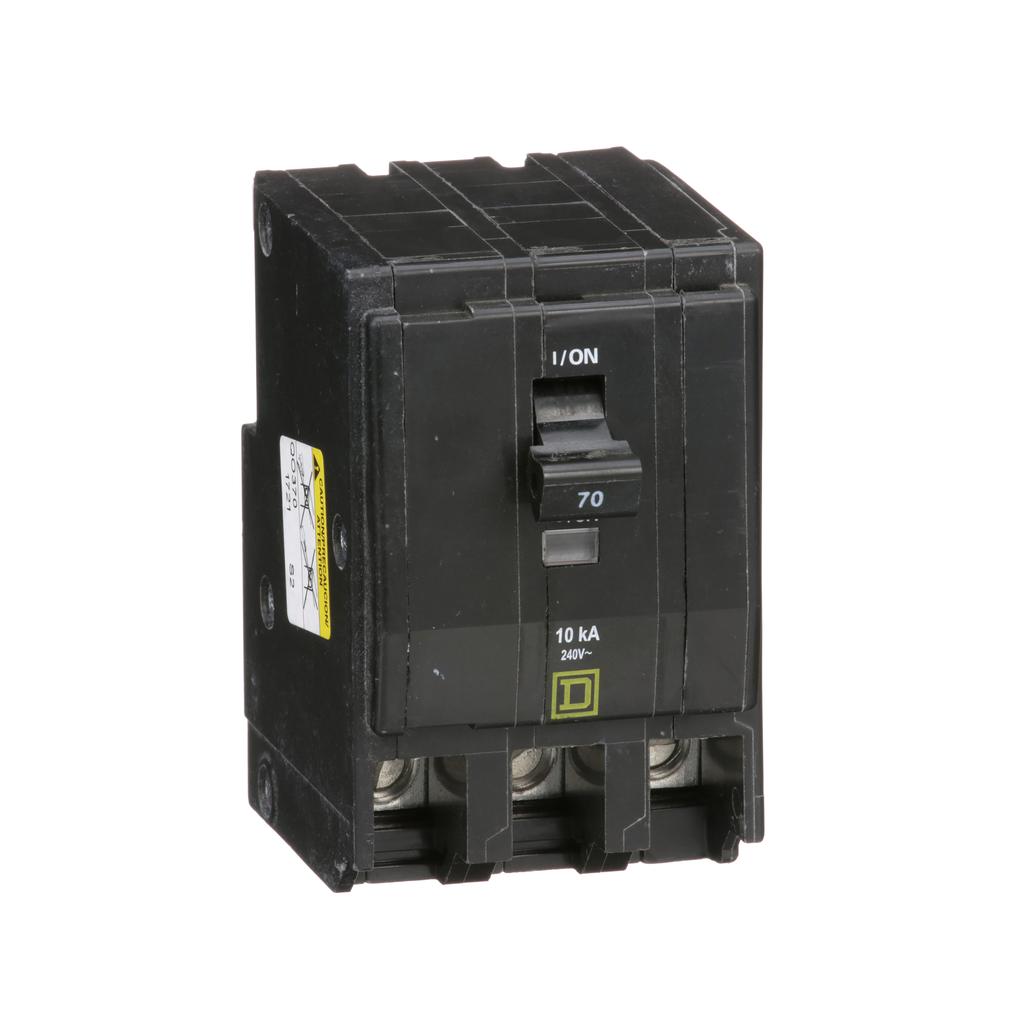 Mayer-Mini circuit breaker, QO, 70A, 3 pole, 120/240 VAC, 10 kA, plug in mount-1