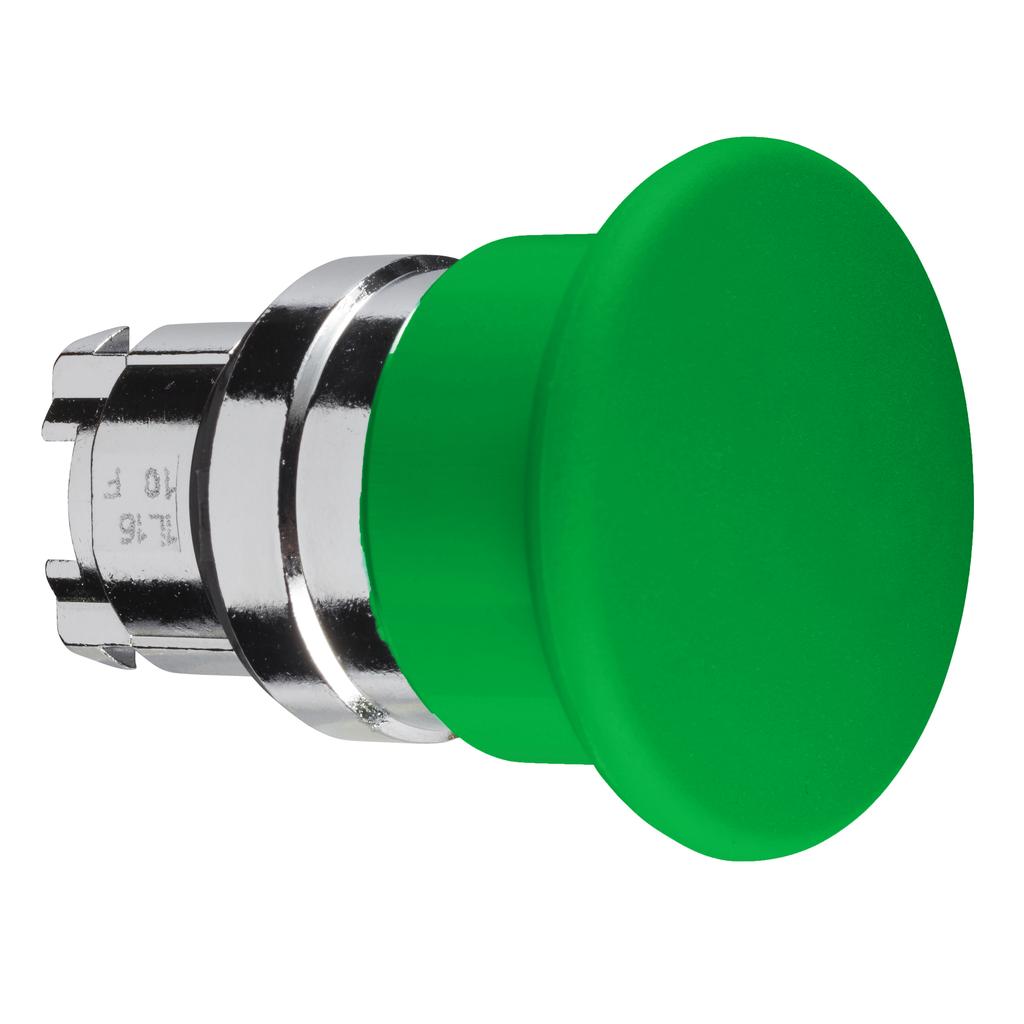 Mayer-Harmony XB4, Mushroom push button head Ø40, metal, green, Ø22, spring return-1