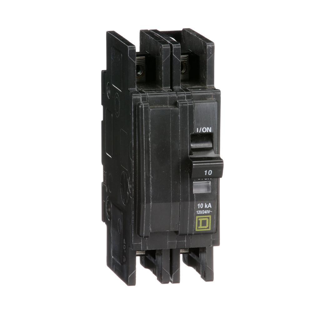 Mayer-Mini circuit breaker, QOU, 10A, 2 pole, 120/240 VAC, 10kA, ring terminal-1