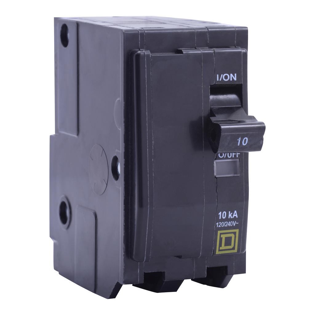Mayer-Mini circuit breaker, QO, 30A, 2 pole, 120/240 VAC, 10 kA, high density discharge, plug in mount-1