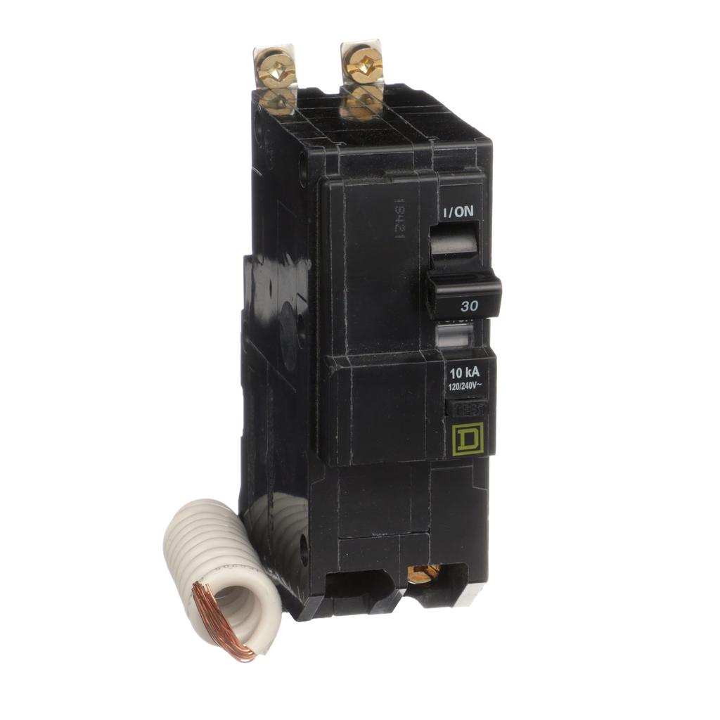 Mayer-Mini circuit breaker, QO, 30A, 2 pole, 120/240 VAC, 10 kA, 30mA grd fault B, bolt on mount-1
