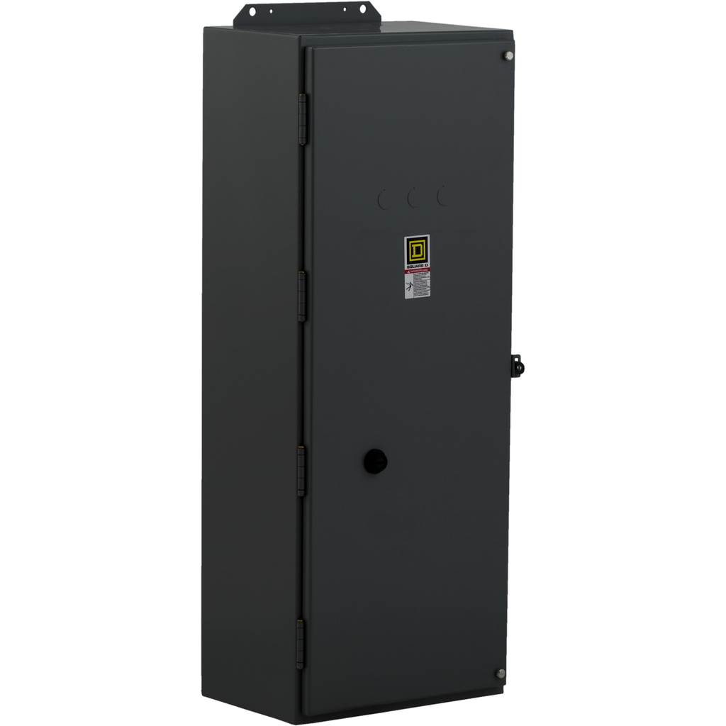 Mayer-NEMA Contactor, Type S, nonreversing, Size 3, 90A, 50 HP at 575 VAC, 3 phase, up to 100 kA, 3 pole, 208 VAC coil, NEMA 1-1