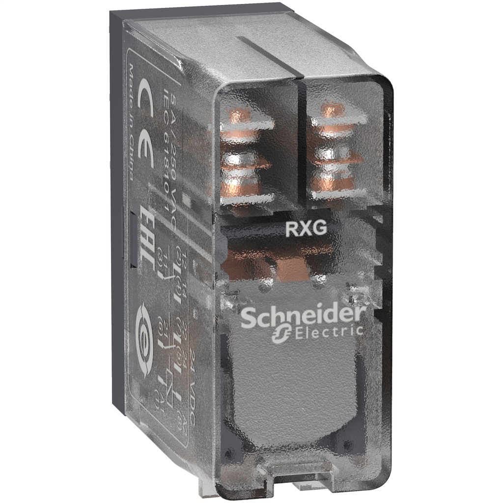 Mayer-Harmony, Interface plug-in relay, 5 A, 2 CO, clear cover, 24 V DC-1