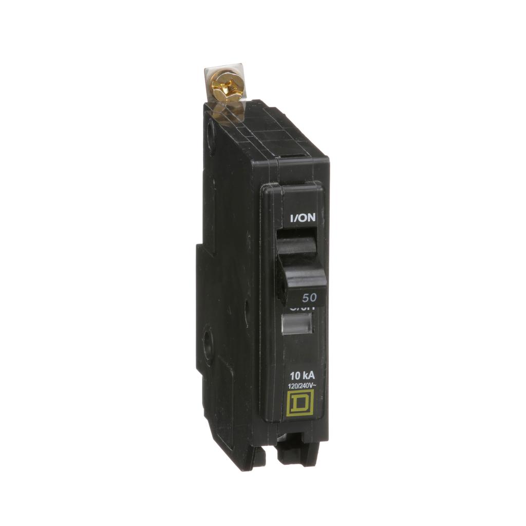 Mayer-Mini circuit breaker, QO, 50A, 1 pole, 120/240 VAC, 10 kA, bolt on mount-1