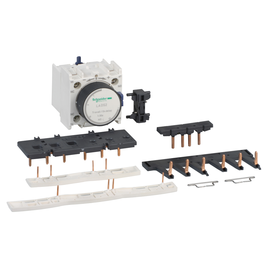 Mayer-Kit for star delta starter assembling, for 3 x contactors LC1D09-D38 star identical, with timer block-1